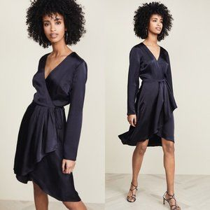 Joie Miltona B High Low Wrap V-neck Midi Dress